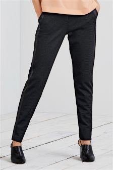 Textured Cigarette Trousers