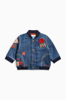 Badged Denim Jacket (0mths-2yrs)