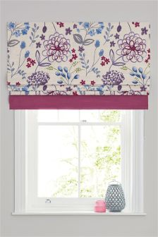 Cotton Country Meadow Print Roman Blind