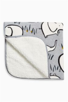 Elephant Fleece Blanket (Newborn)