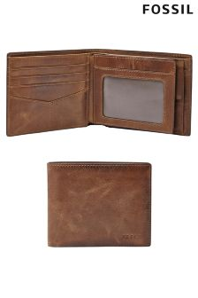 Fossil™ Derrick RFID Leather Bifold Wallet
