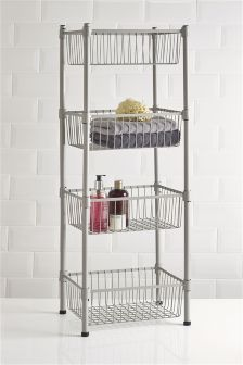 Grey 4 Tier Freestanding Storage Unit