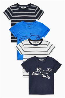 Transport Short Sleeve T-Shirts Four Pack (3mths-6yrs)