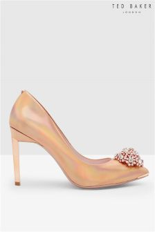 Ted Baker Rose Gold Embellished Court Shoe