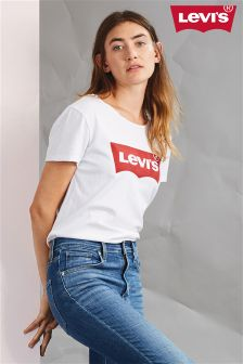 Levi's® White Batwing Logo Perfect Tee