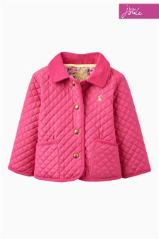 Little Joule Pink Mabel Quilted Jacket