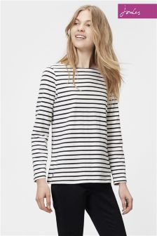Joules Black Stripe Harbour Jersey Top