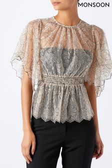 Monsoon Nude Sharma Lace Top