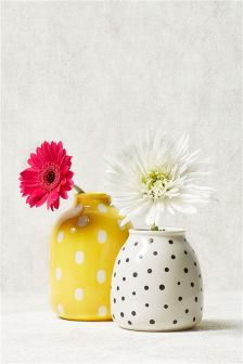 Set Of Two Ceramic Vases
