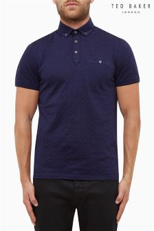 Ted Baker Navy Weave Poloshirt