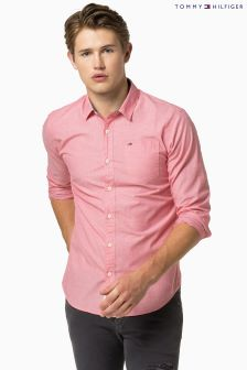 Hilfiger Denim Pink Plain Shirt
