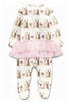 Bunny Tutu Sleepsuit (0-9mths)