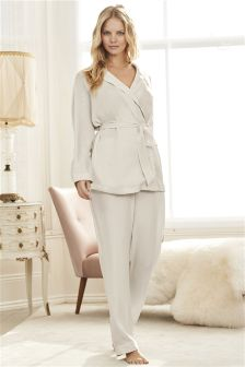 Bridal Satin Wrap Pyjamas