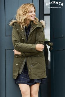 Fat Face Khaki Penrith Premium Parka