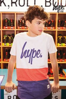 Hype Red/Blue/White Panel T-Shirt