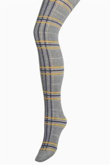 Knitted Check Tights