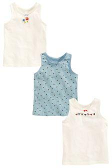 Bird Vests Three Pack (1.5-12yrs)