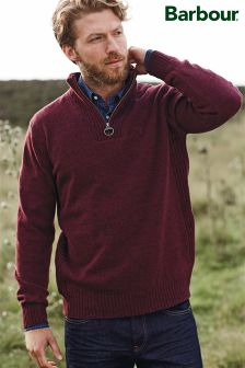 Barbour® Lambswool Half Zip Neck Knit Jumper