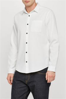 Long Sleeve Textured Shirt
