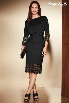 Phase Eight Black Alfi Lace Dress