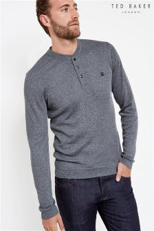 Ted Baker Navy Henley Top