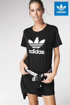 adidas Originals Black Trefoil Tee Dress