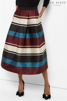 Ted Baker Stripe Full Skirt