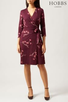 Hobbs Red Sally Dress