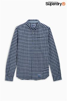 Superdry Navy Small Check Shirt