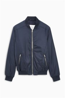 Buy Men's coats and jackets Jackets Navy Bomber from the Next UK ...