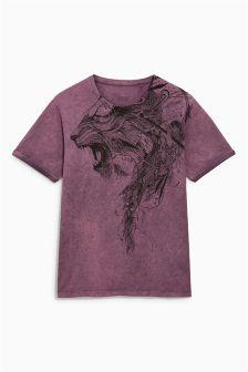 Lion Acid Wash T-Shirt
