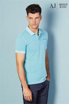 Armani Jeans Turquoise Logo Polo