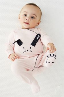 Bunny Wrap Sleepsuits Two Pack (0mths-2yrs)