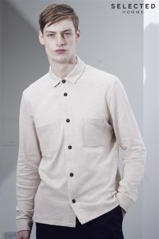 Selected Homme Grey Jersey Shirt
