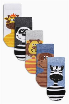 Animal Socks Five Pack (Younger Boys)