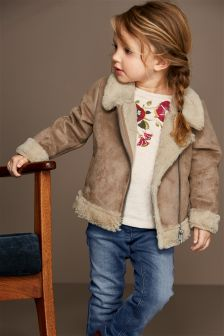 Shearling Look Jacket (3mths-6yrs)