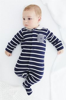 Stripe Sleepsuits Three Pack (0mths-2yrs)