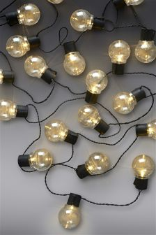 Set Of 40 LED Clear Retro Line Lights