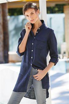 Longline Linen Shirt