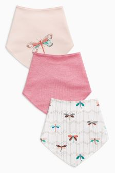 Dragonfly Dribble Bibs Three Pack