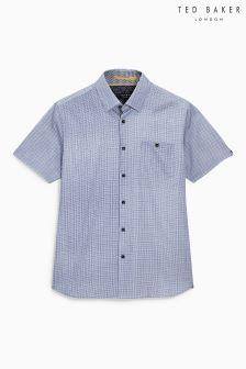 Ted Baker Blue Lorenze Short Sleeve Shirt