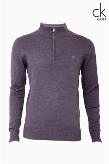 Calvin Klein 1/2 Zip Knitted Top