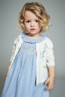 Flower Embroidered Cardigan (3mths-6yrs)