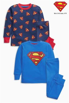 Superman® Snuggle Fit Pyjamas Two Pack (9mths-8yrs)