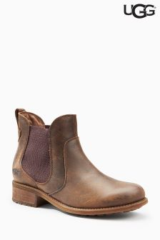 Ugg® Brown Stout Bonham Leather Chelsea Boot