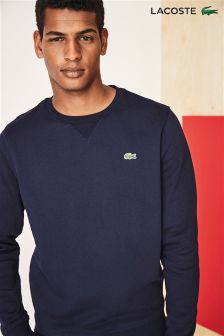 Lacoste® Navy Cotton Fleece Sweatshirt