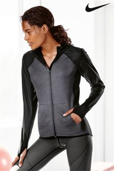 Nike Grey And Black Therma Hoody
