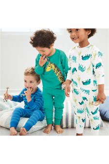 Safari Snuggle Fit Pyjamas Three Pack (9mths-8yrs)