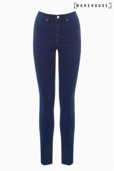 Warehouse Mid Wash Ultra Skinny Cut Jean
