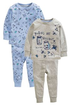 Bug Pyjamas Two Pack (9mths-8yrs)